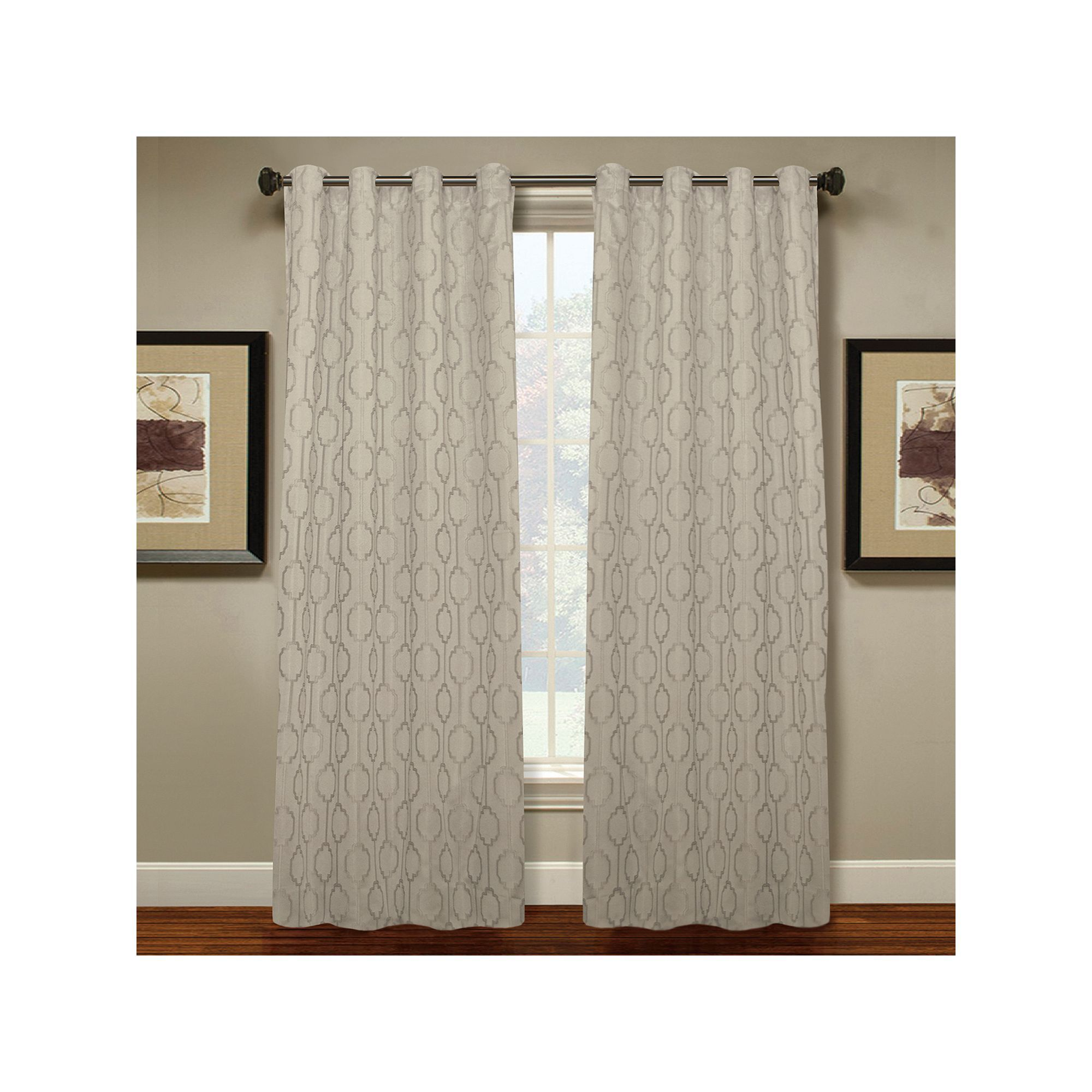 Spencer Home Decor Page Curtain White