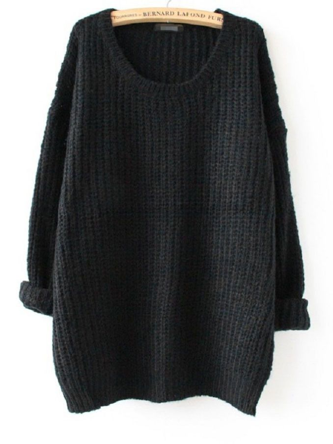 Megan Oversized Knit Sweater | Quarter sleeve, Cashmere and Cotton