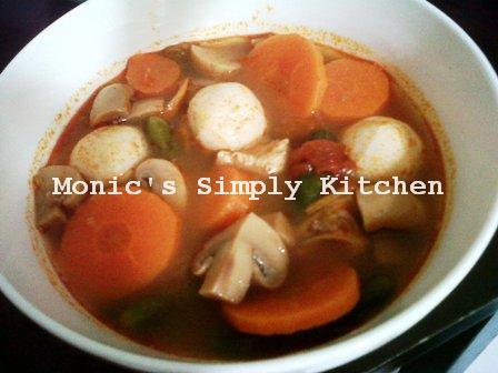 Sup Tom Yam Sarat Isi Hohoho Resep Makanan Makanan Sayuran