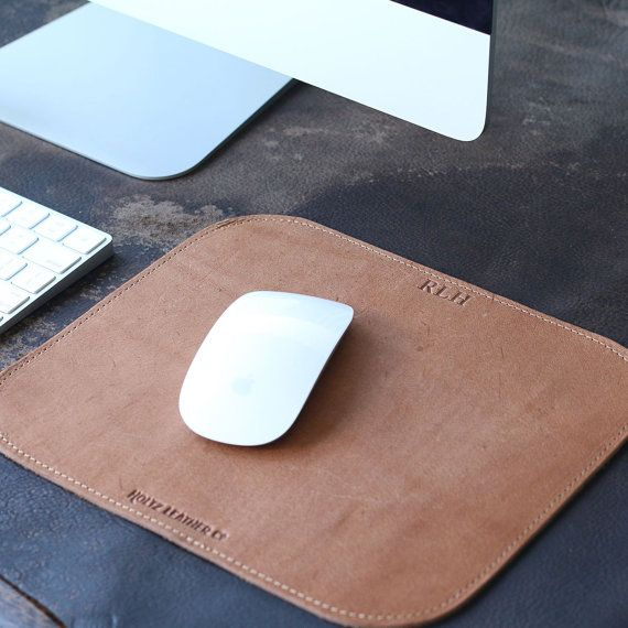 Personalized Fine Leather Mouse Pad Mousepad Office Desk