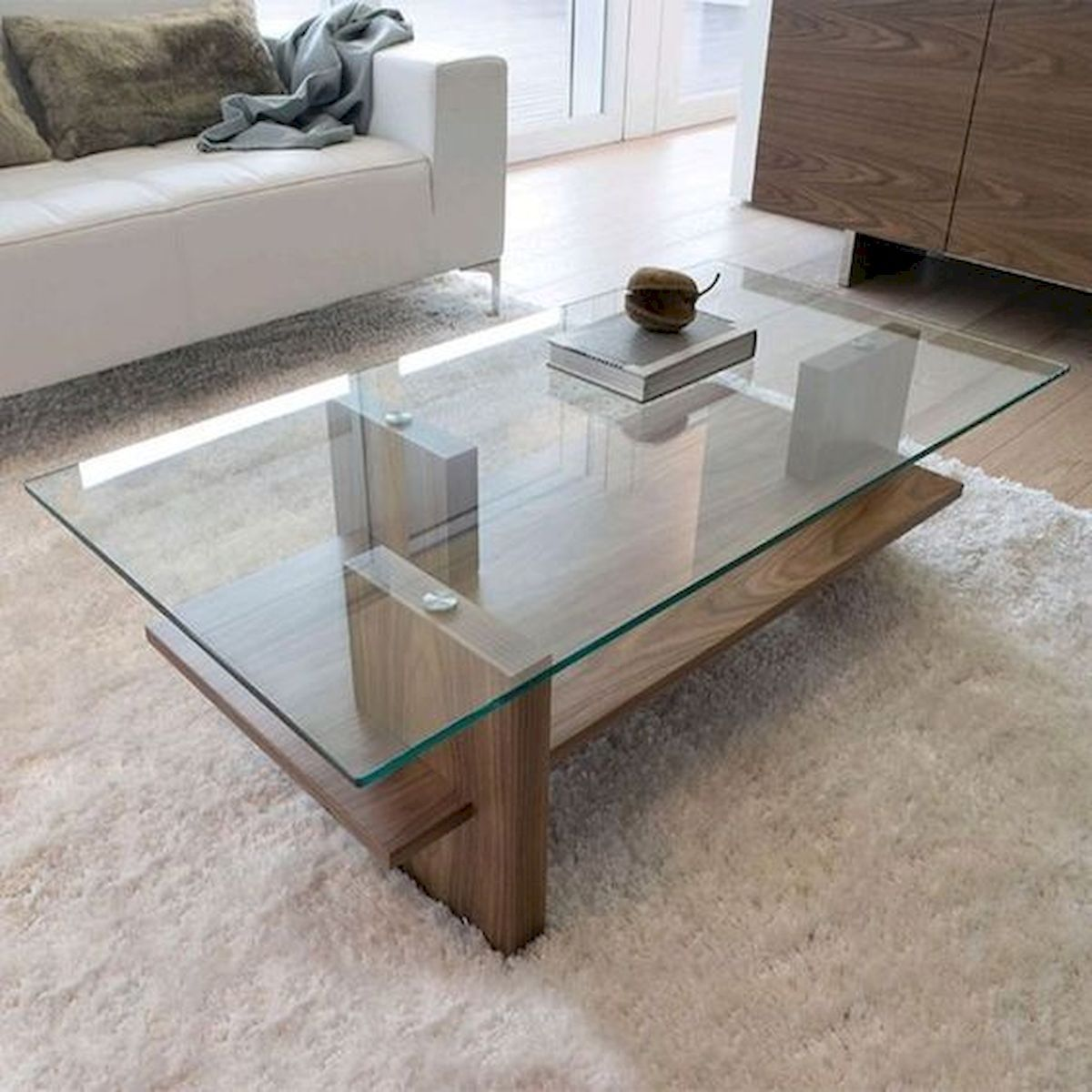 40 Awesome Modern Glass Coffee Table Design Ideas For Your Living Room Modern Glass Coffee Table Living Room Table Coffee Table Living room glass table
