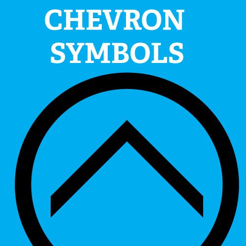 Chevron Symbols For Illustrator Black On Blue Vector Shape