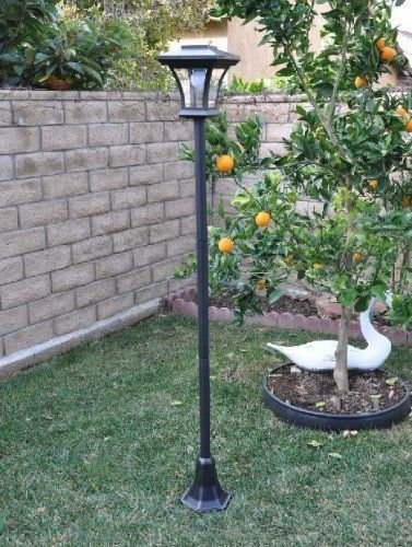 New 67 solar powered lamp post light with bright led bulb garden new 67 solar powered lamp post light with bright led bulb garden adjustable unbranded aloadofball Image collections