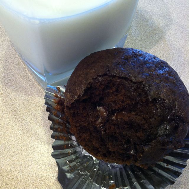 Chocolate chocolate chip muffins. just like the ones at CCA.
