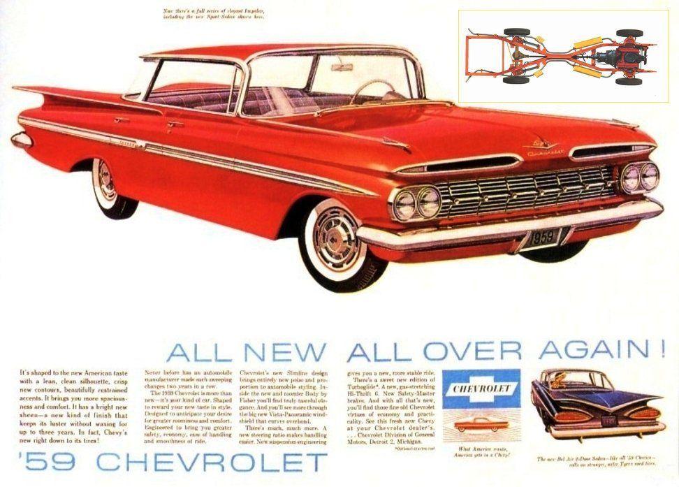 1959 Chevy Impala Ad Car Advertising Automobile Advertising Chevrolet