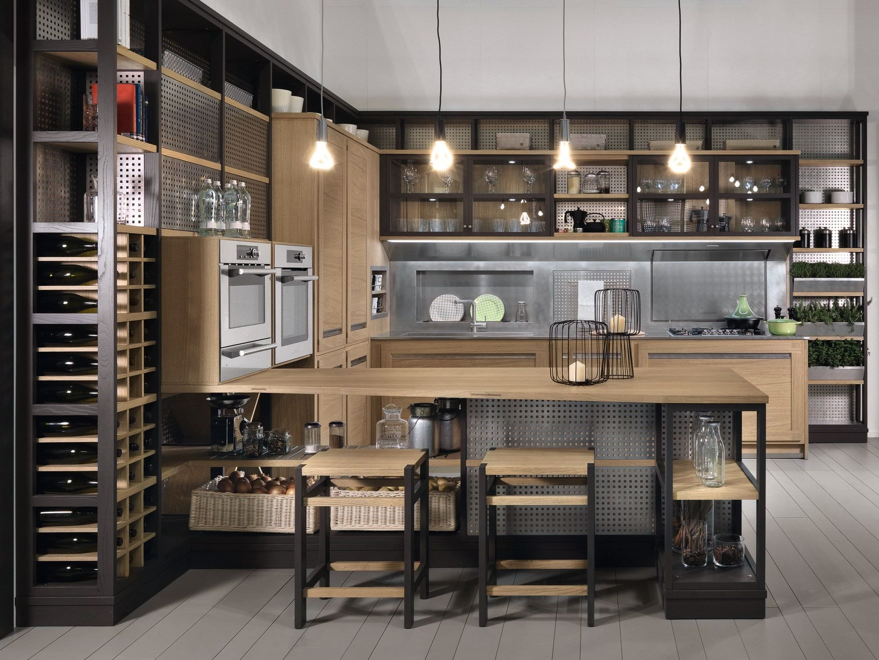 Bonito Roble Recuperada Cocinas Reino Unido Bosquejo - Ideas de ...