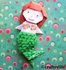 origami mermaid folding instructions mermaid birthday