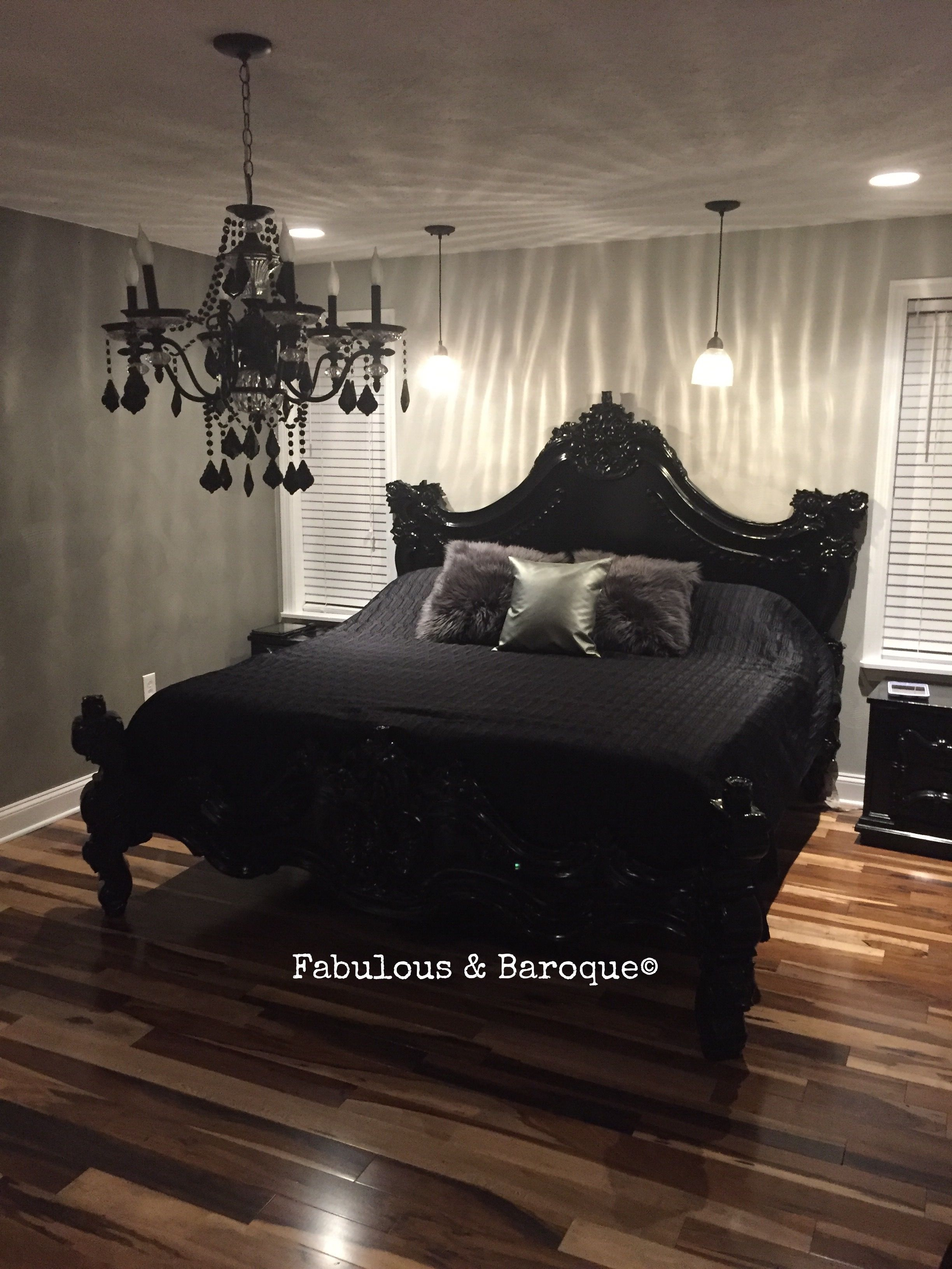 Our Signature Stunner Royal Fortune Bed Bude Gothic House Black Bedding