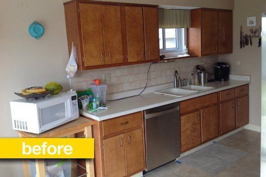 Kitchen before after a galley kitchen gets a sleek upgrade kitchen before after a galley kitchen gets a sleek upgrade solutioingenieria Image collections