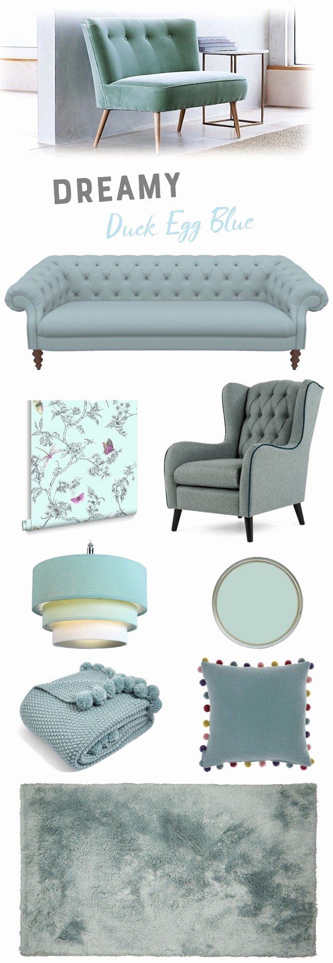 30 Duck Egg Blue Living Room Idea in 2020 | Duck egg blue ...