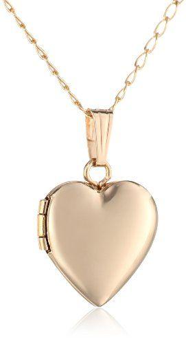 478704b8da5e1 Children s 14k Yellow Gold-Filled Heart Locket Necklace