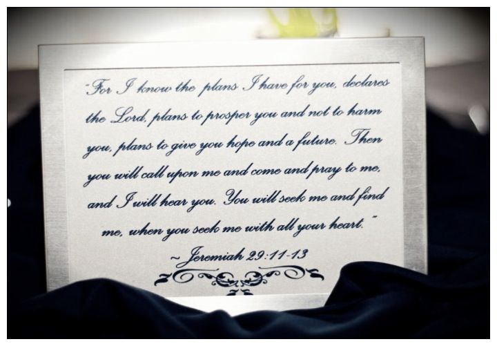 Best Bible Verse For Wedding Invitation: Place Bible Verses In Silver Frames.