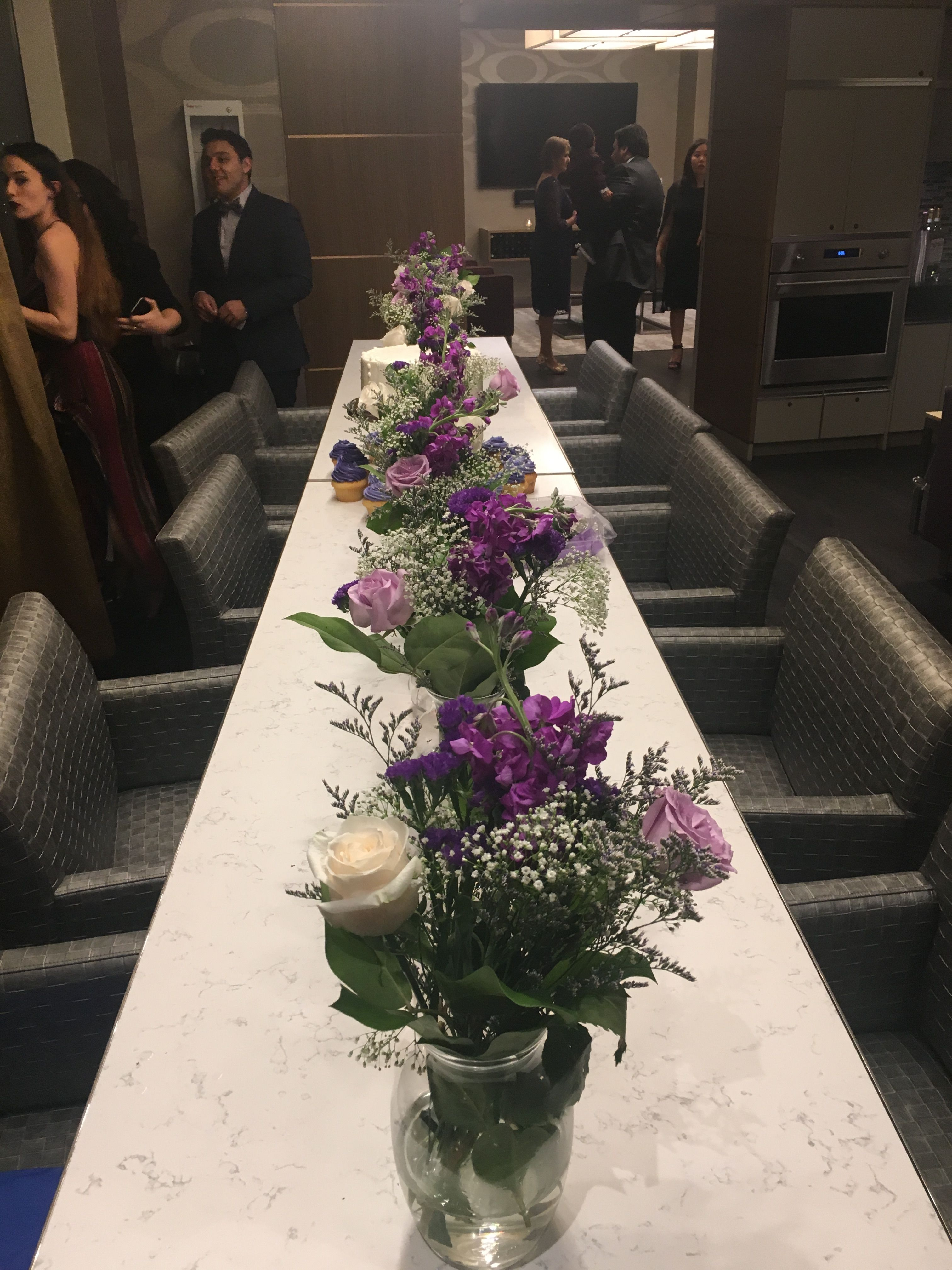 Beautiful Purple And White Flower Arrangement For Purple And Silver