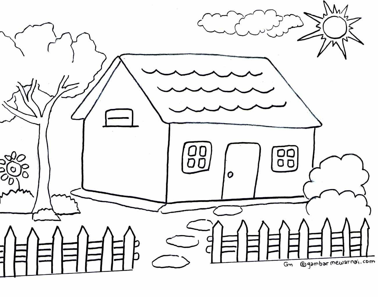 Belajar Mewarnai Gambar Pemandangan Mewarnai Rumah Mewarnai Cerita Terbaru Lucu Sedih Humor Kocak Romantis