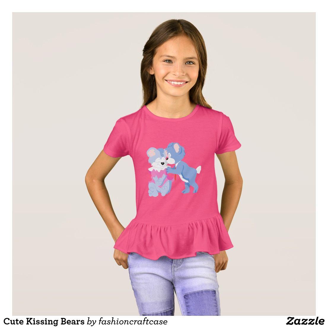 Cute kissing bears tshirt love t shirt