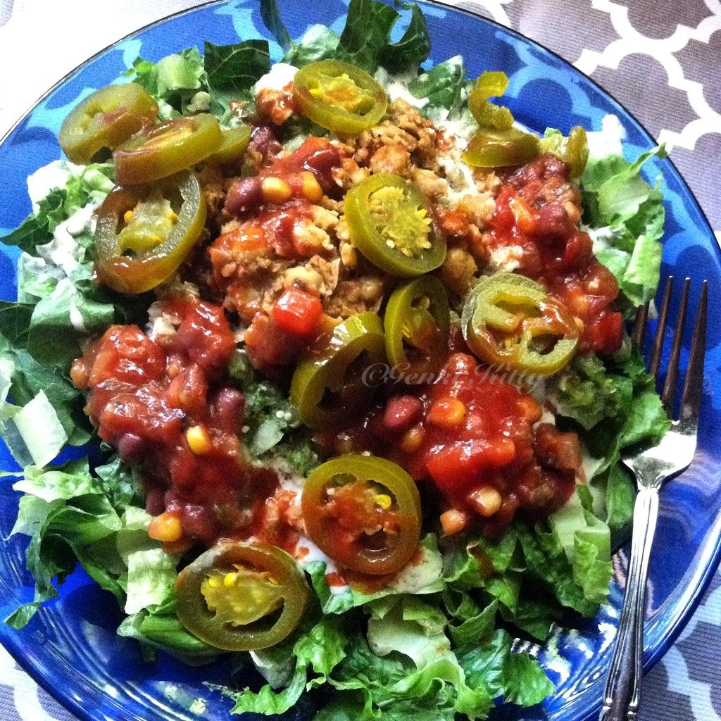 Refried Bean Salad Spicy Recipe