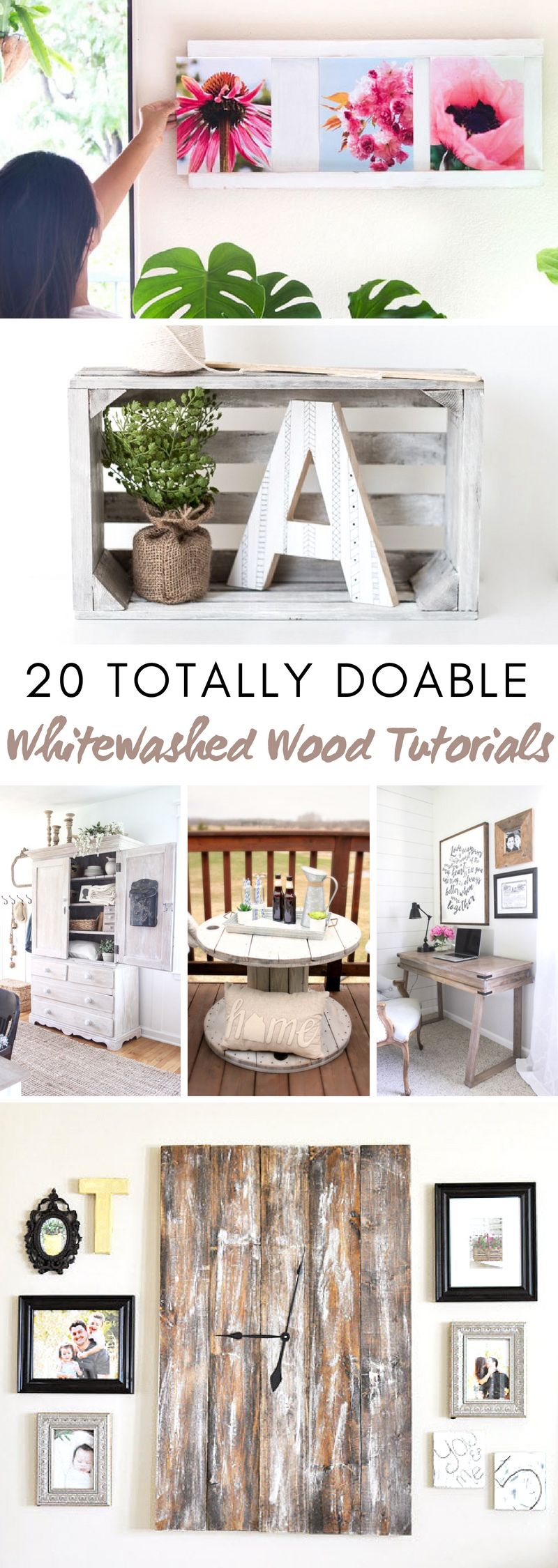 Whitewashed Wood Tutorials #fixerupper #whitewash #wood ...