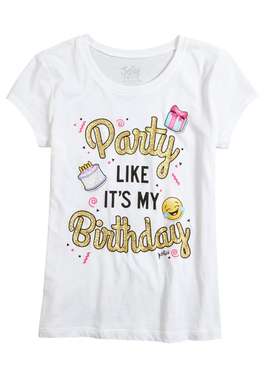 Birthday Party Graphic Tee Original Price 1200 Available At Justice