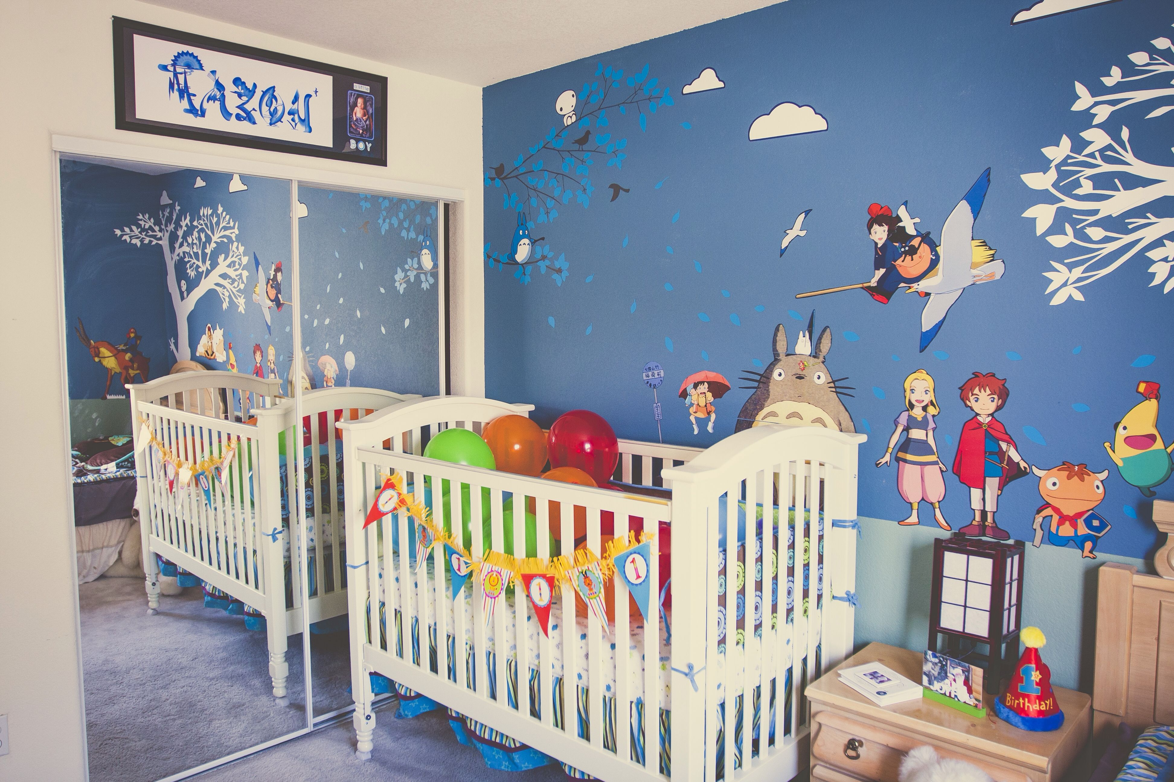 Ghibli themed baby room, so much wantz if I could draw p