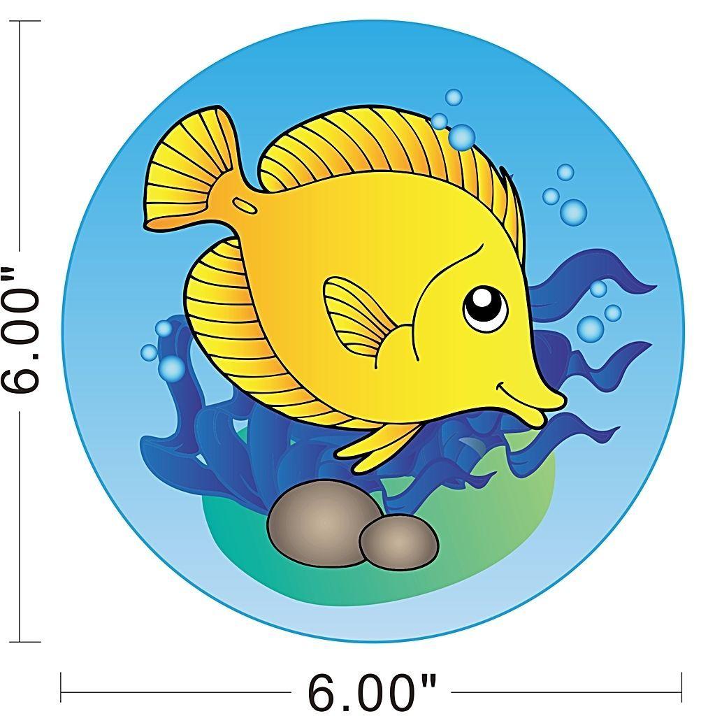 Tropical Seaweed Fish Ocean Sea Kids Room Children Wall Decal ...
