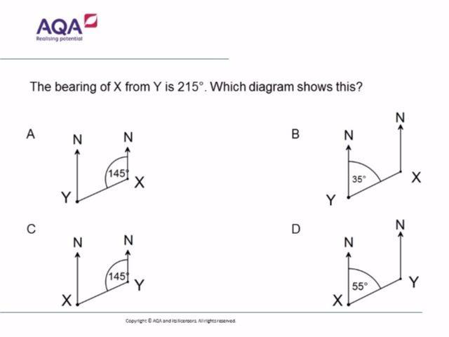 Bearings | Diagnostic Questions | Math | Gcse math, Math ...