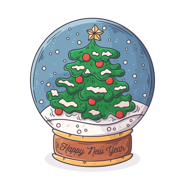 Download Hand Drawn Christmas Snowball Globe For Free Christmas Drawing Christmas Stickers Christmas Doodles
