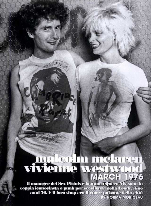 L'uomo Vogue Editorial Icon's Directory: Malcolm Mclaren Vivienne Westwood, May/June 2008