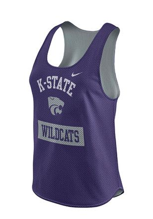 Nike K-State Wildcats Womens Purple Gear Up Tank Top  0c33f46b9