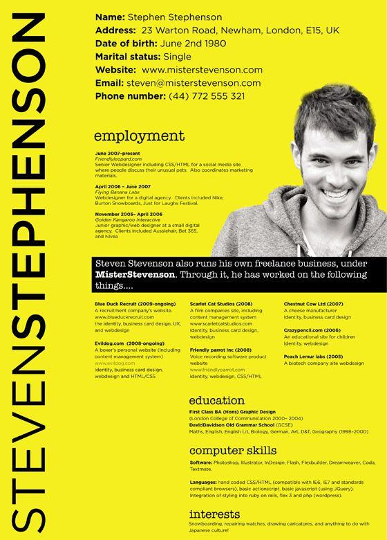 30 Cv Resume Design Inspiration Web3mantra Creatief Cv Ontwerp Resume Design Infographic Cv