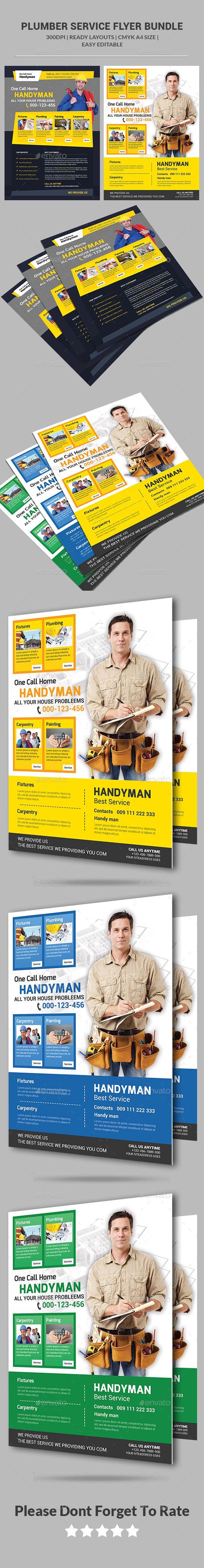 plumber service flyers bundle flyers plumber service flyers bundle