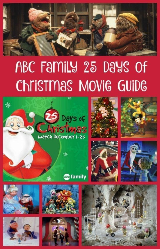 Abc Family 25 Days Of Christmas Movie Guide Christmas Movies