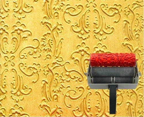 7 Rubber Pattern Paint Roller Print Applicator Decor Household