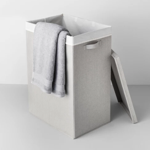 Collapsible Hamper With Laundry Bag Light Gray Made By Design