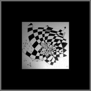 Tangle Experiment mit Passepartout