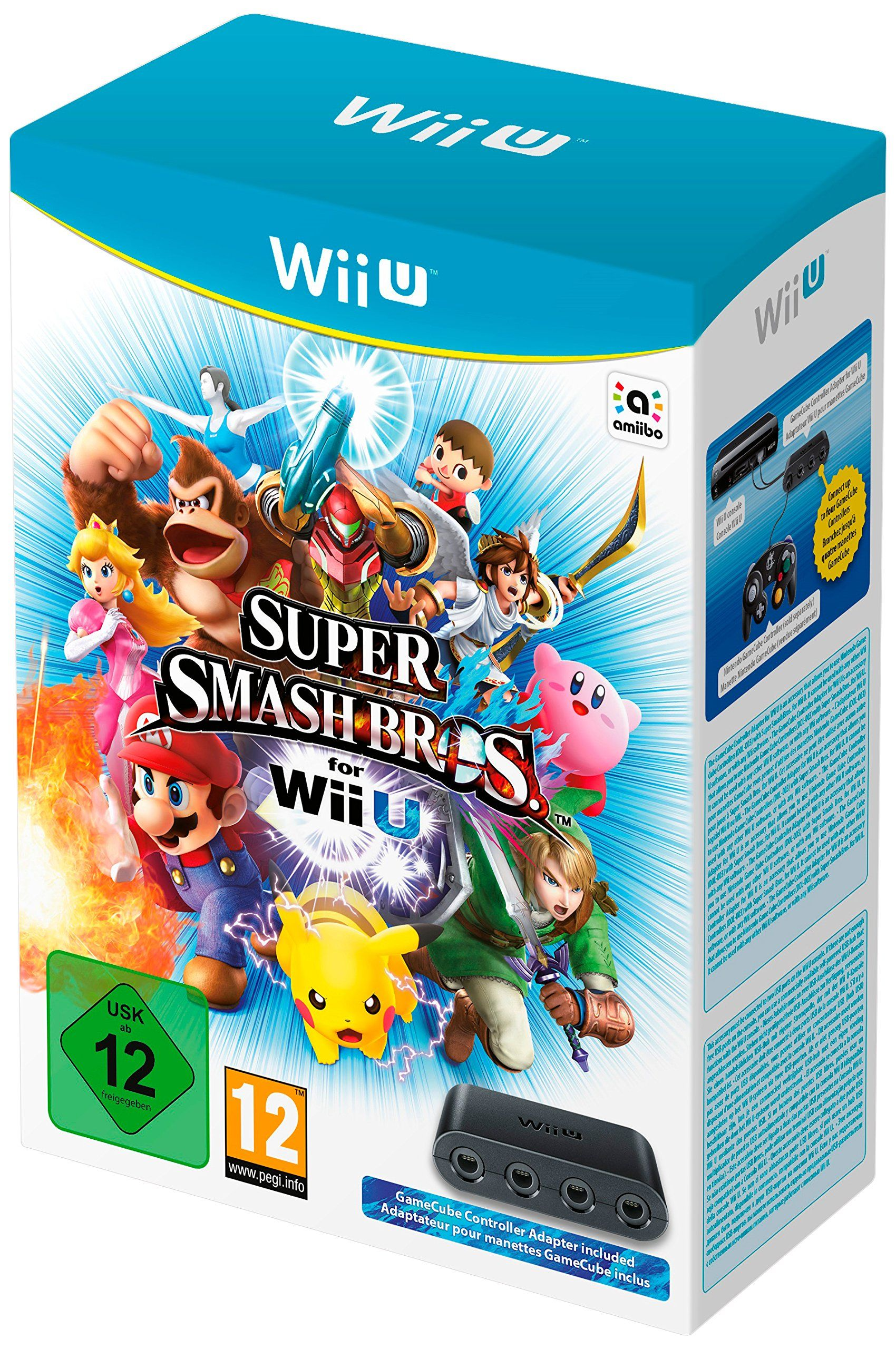 new styles official photos buy good Super Smash Bros. + Adaptateur Manette Gamecube pour Wii U ...
