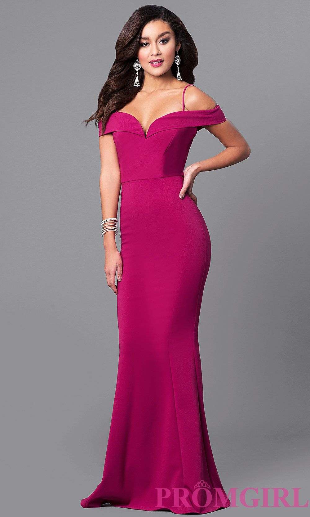 97b32c60b69a7a Sleek evening gowns with sweetheart necklines, spaghetti straps and long  mermaid style skirts. I like Style MCR-1562 from PromGirl.com, do you like?