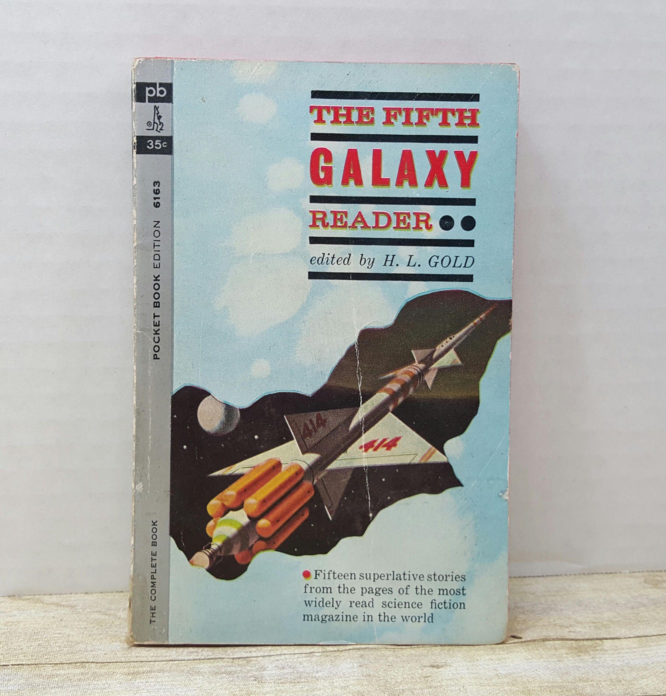 The Fifth Galaxy Reader, 1962, vintage sci fi by RandomGoodsBookRoom on Etsy