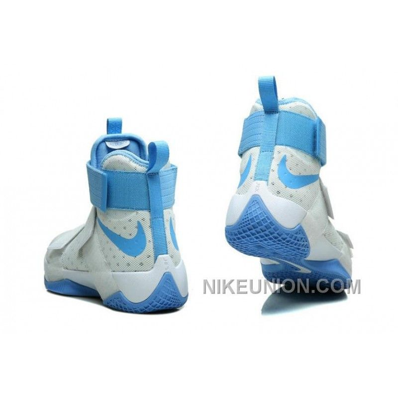 11e7fa8eca61 Real Nike Zoom LeBron Soldier 10 White Light Blue Top Deals  Nike Zoom  LeBron Soldier 10 Mens Nike Lebron James Basketball Shoes ...