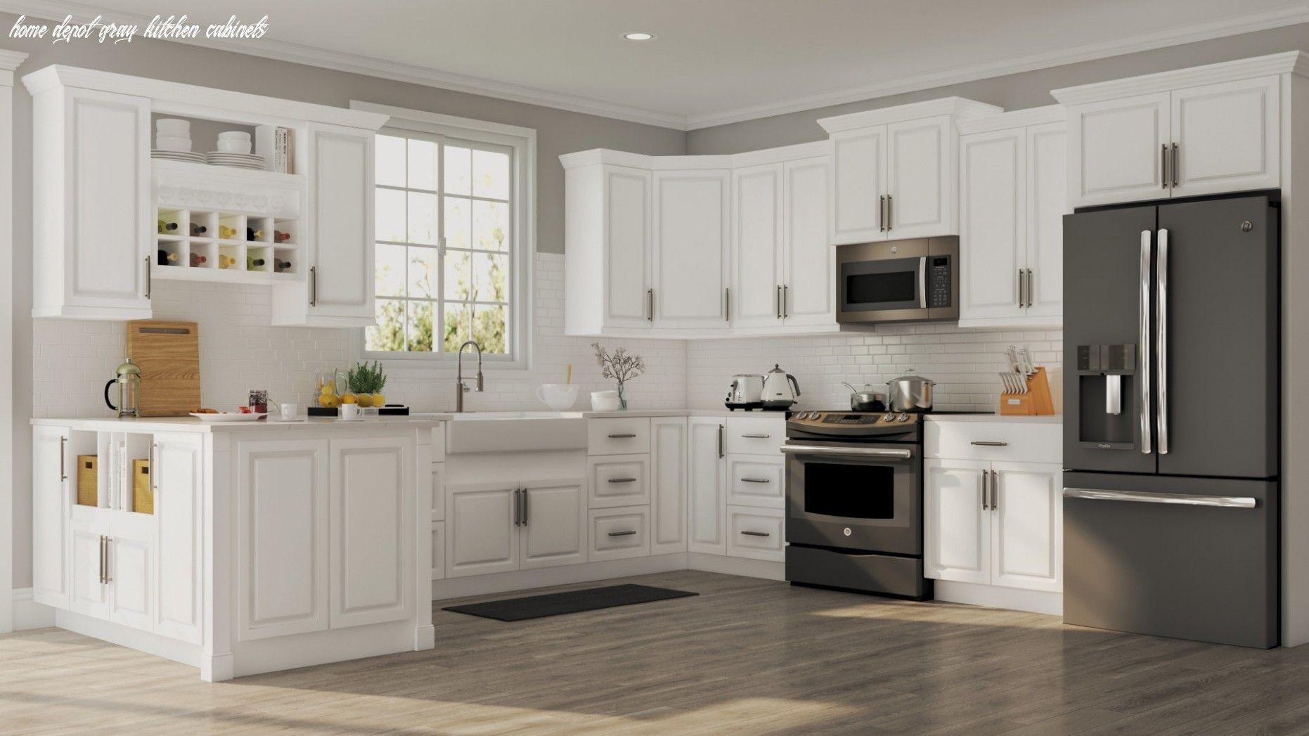 15 Home Depot Gray Kitchen Cabinets En 2020 Armoire De Cuisine Idee Deco Cuisine Cuisine