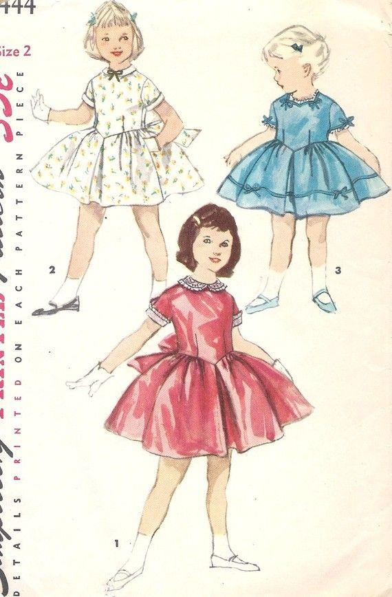 1950s Girls Party Dress with Full Skirt | My Grand kids | Pinterest ...