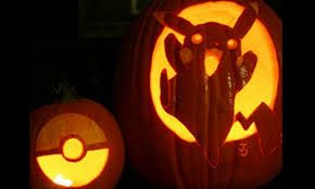 Pikachu and pokeball pumpkin - Google Search