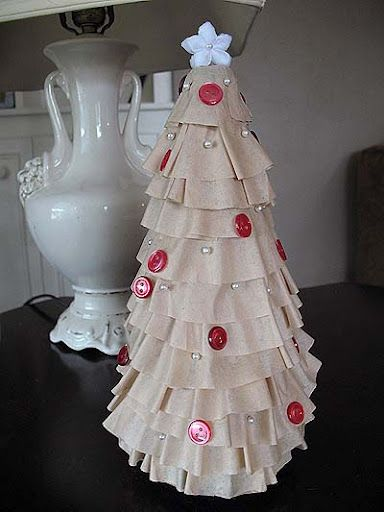 coffee filter christmas tree crafts by amanda