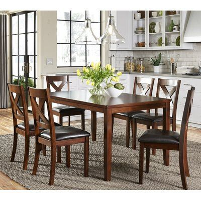 Darby Home Co Nadine 7 Piece Breakfast Nook Dining Set ... on montana home furniture, parker home furniture, kingston home furniture, jordan home furniture,