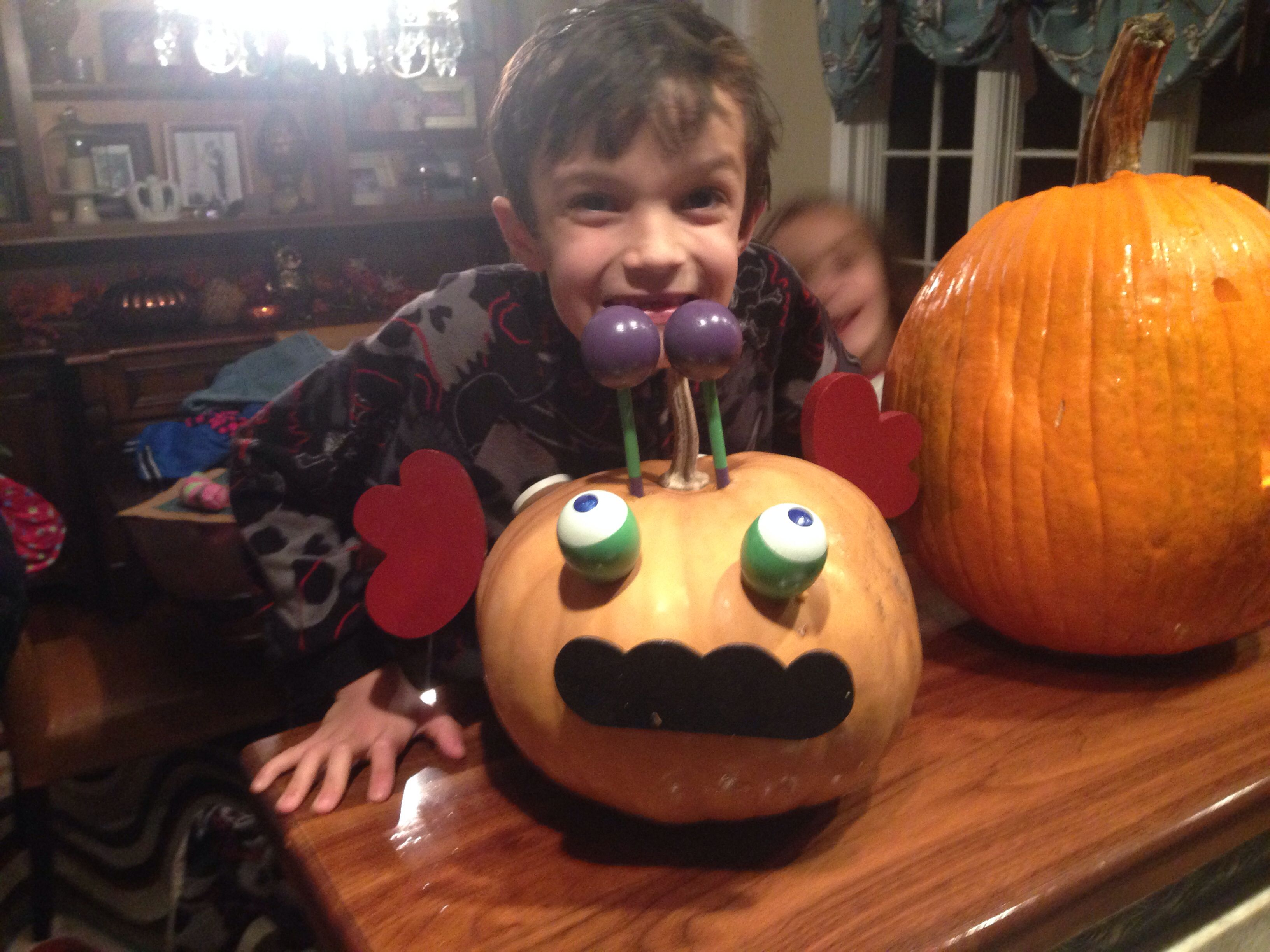 Gianni loves Halloween and pumpkins