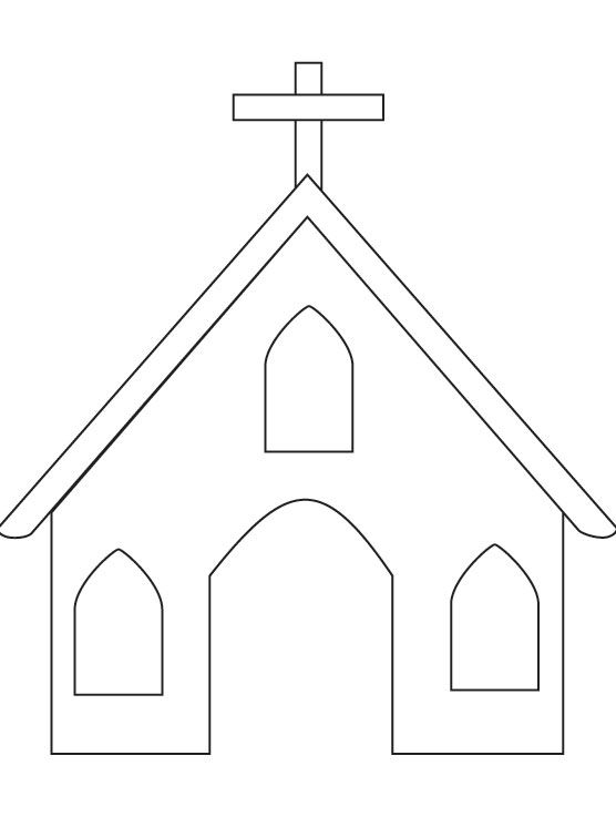 coloring page of a church Church coloring page