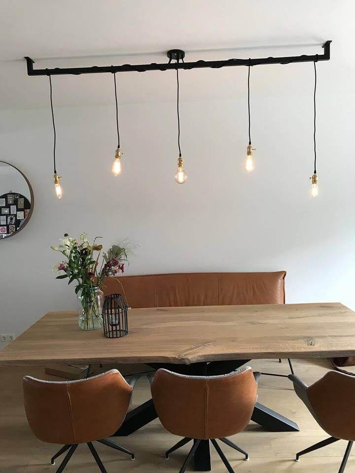 Wonderbaar Industriële Loftbar - Eetkamertafel lamp, Eettafel en Eetkamer idee WM-23