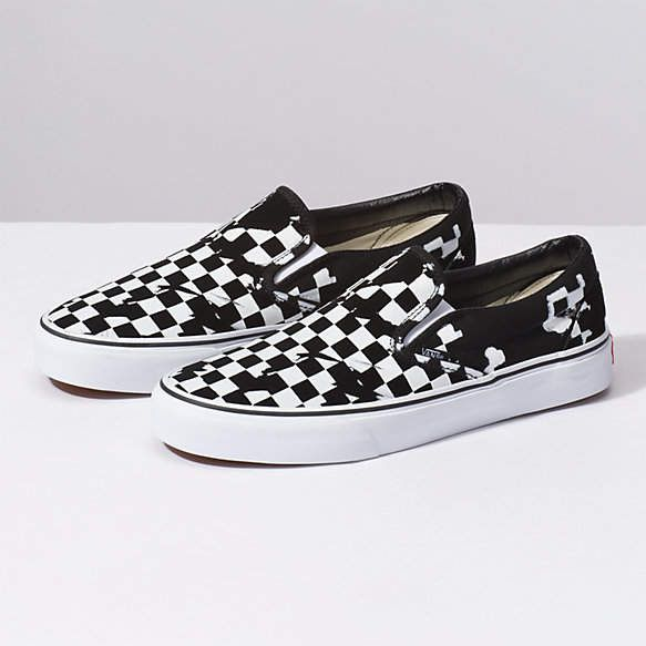 5a3d62e6 Overprint Check Classic Slip-On | Products | Black slip on sneakers ...