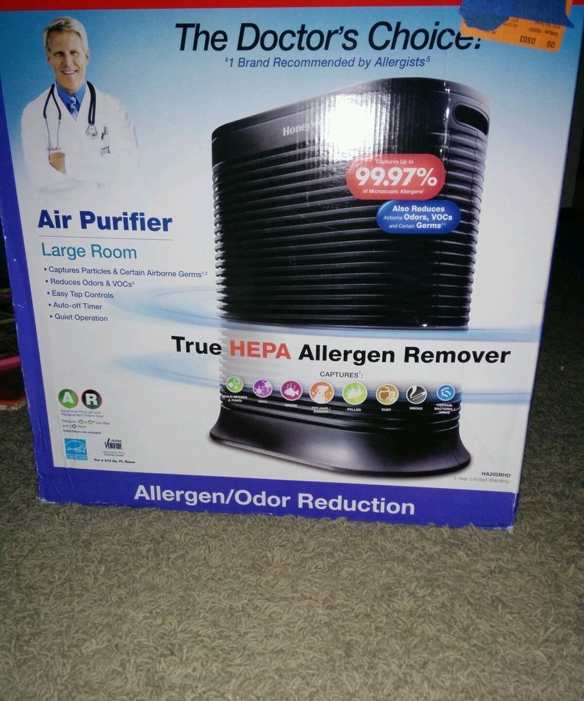 Honeywell Doctors Choice Hepa Allergen Remover Odor Reduction Ha202bhd How To Remove Hepa Air Purifier