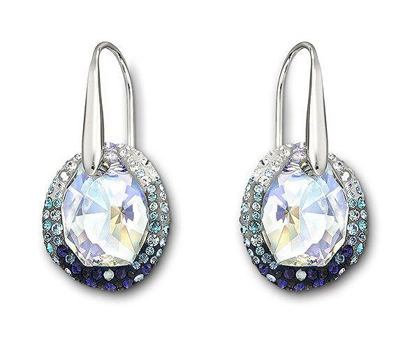 Sworaski Crystal Puzzle Earrings Top Swarovski Pierced In Jewellery Outlet