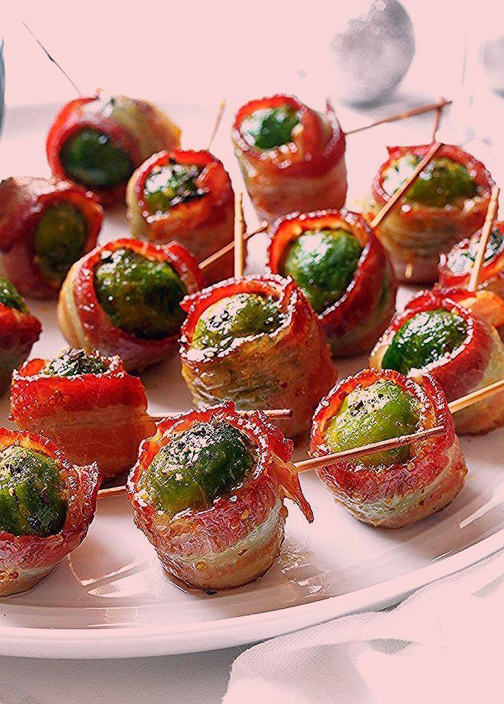 Bacon Wrapped Roasted Brussels Sprouts - Zarte Güte von Rosenkohl und ... -